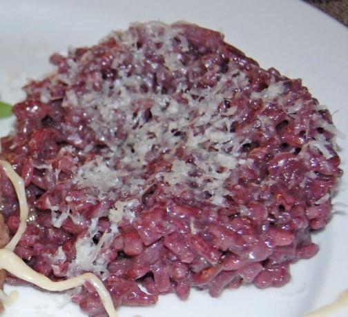 Risotto al Vino Rosso Recipe by Judy Witts-Francini
