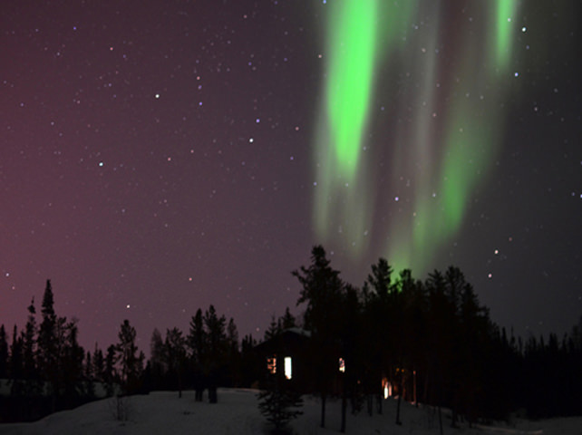 Aurora Over The Viewing Cabin