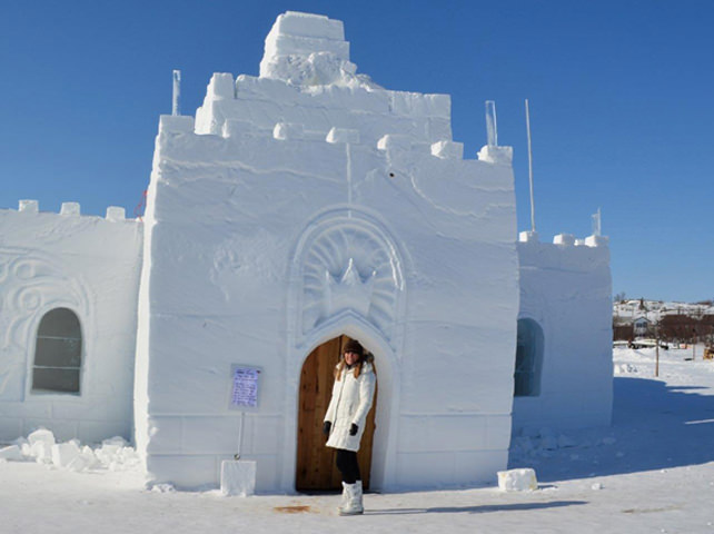 Jill Philipchuk In Front Of The Ice King Castle
