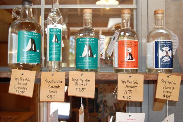 Spy Hop Gin at San Juan Island Distillery