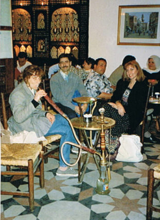 Visiting a Cairo coffee house.