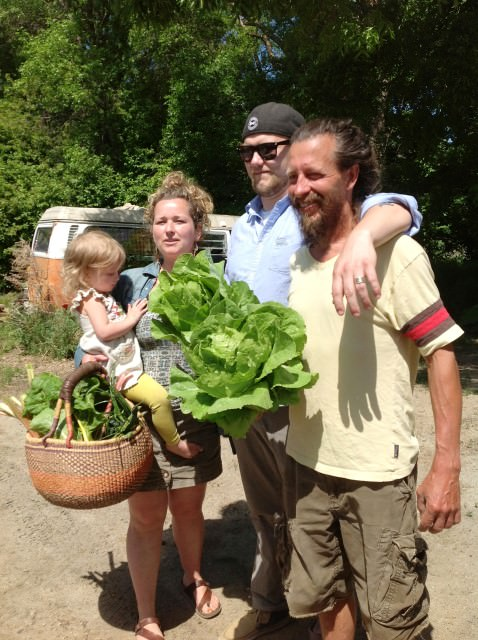 Heliotrope Organic Farm, owners Rick and Hayley and Chef Tim.