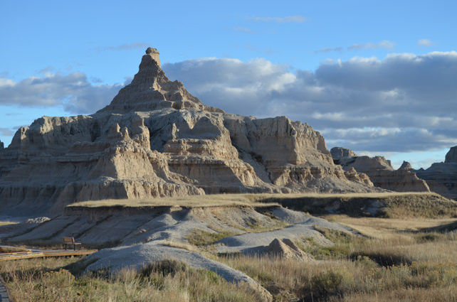 Badlands National Park - Rock formations jutting to the surface