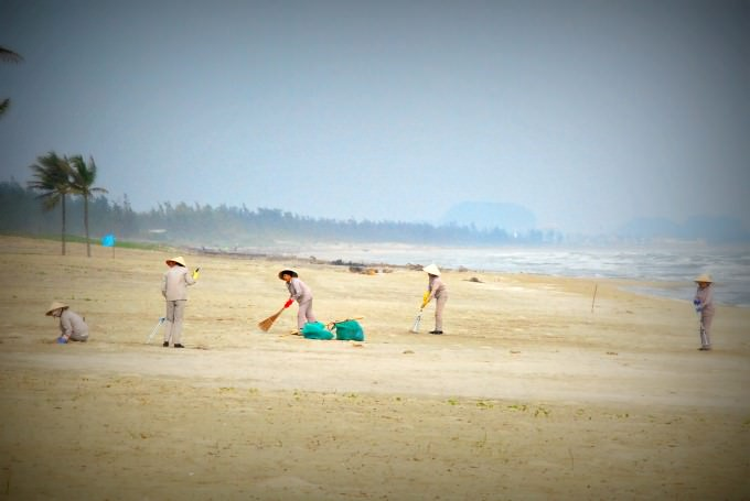Maintaining the Beach at The Nam Hai
