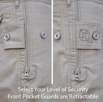 Clothing Arts Business Traveler Pants Front Zippered Pocket