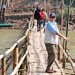 Jill Wearing Clothing Arts Pick-Pocket Proof Adventure Traveler Pants in Luang Prabang, Laos