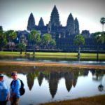 Jill and Viv at Angkor Wat - Uniworld Mekong Cruise