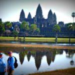 Jill and Viv at Angkor Wat - Uniworld Mekong Cruise
