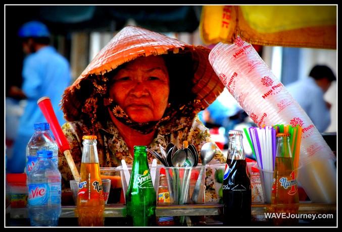 Woman Selling Drinks in Saigon
