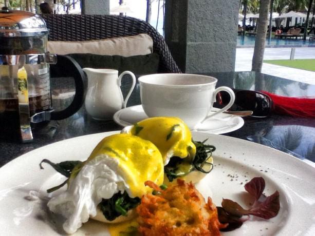 The Nam Hai Breakfast Eggs Florentine