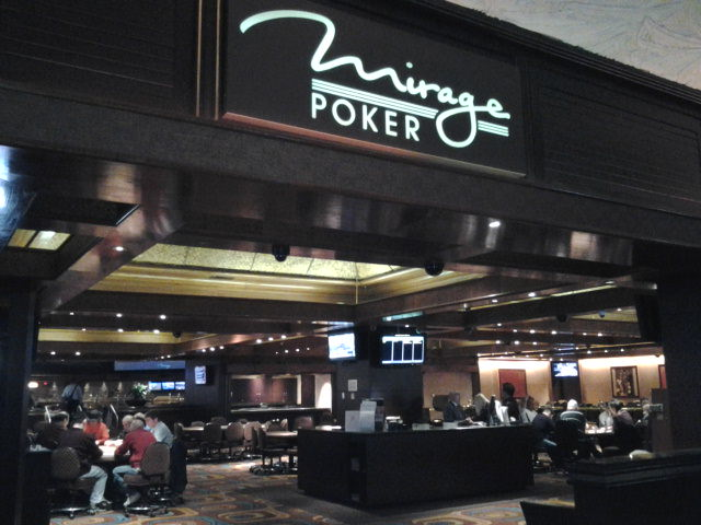The mirage poker room react to a great poker hand crossword