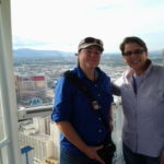 Viv and Jill ride the High Roller in Las Vegas