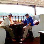 Jill and Viv on Luang Say Mekong Cruise