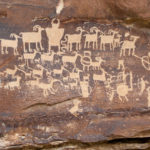 The famous Great Hunt petroglyph is easily accessed from a parking area along the road. ©RKCaton