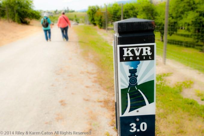 Kettle Valley Rail Trail in the Okanagan, BC, Canada