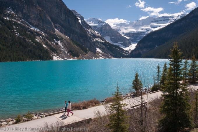 Karen and Riley Explore Lake Louise in Alberta, Canada