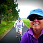 Jill and Viv out for a bike ride at Sunriver, Oregon