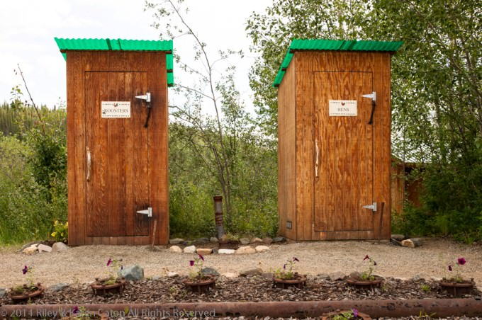 Outhouses at Chicken Gold Camp & Outpost