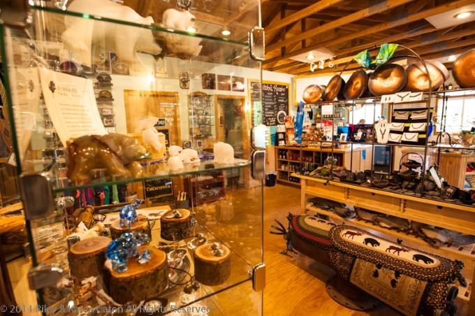 Inside the gift shop/café