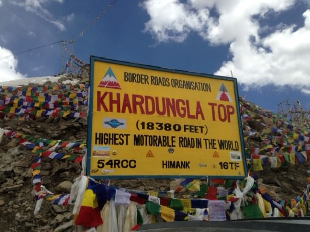 Khardungla Pass - The highest motorable road in the world