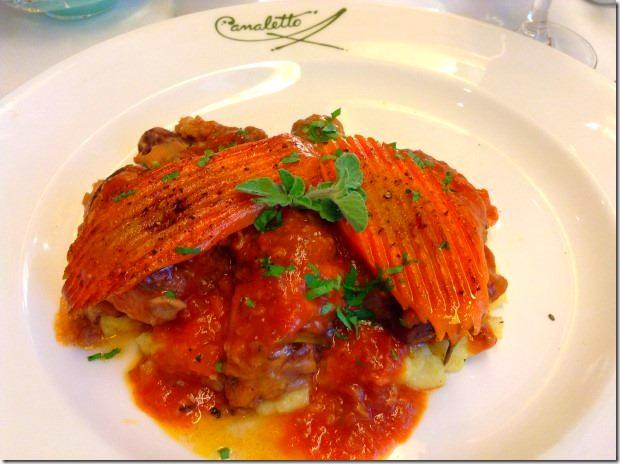 Chicken Cacciatore All Forno with soft Parmesan Polenta