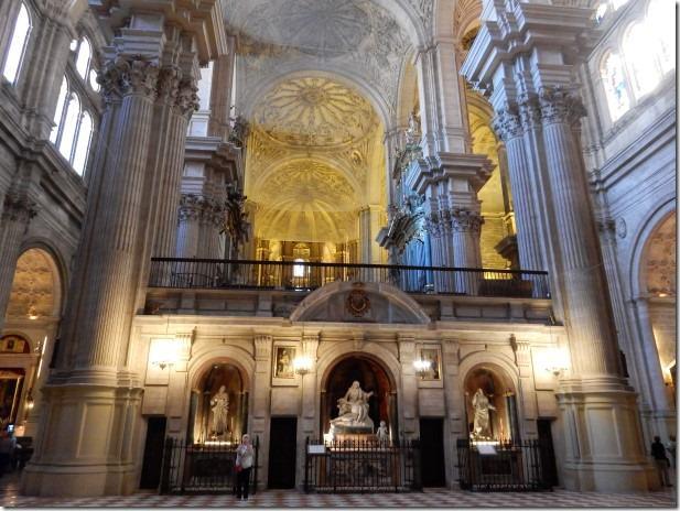 Interior of Cathedral of Malaga