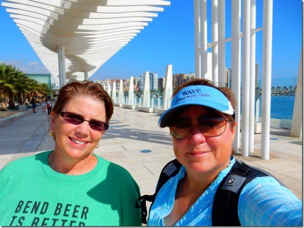 Jill and Viv in Malaga