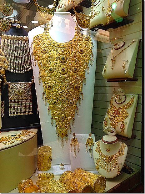 Trinkets at the Gold Souk in Dubai