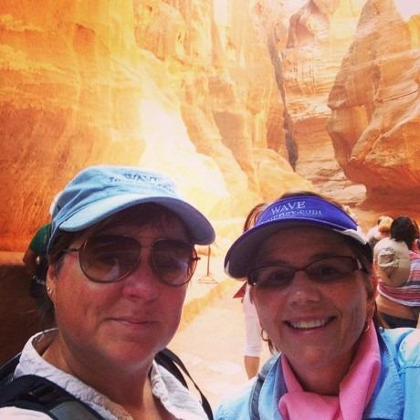 Viv and Jill at Petra, Jordan