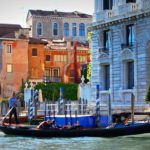 Gondola on the Grand Canal in Venice, Italy
