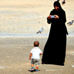 Woman at Beach in Muscat, Oman