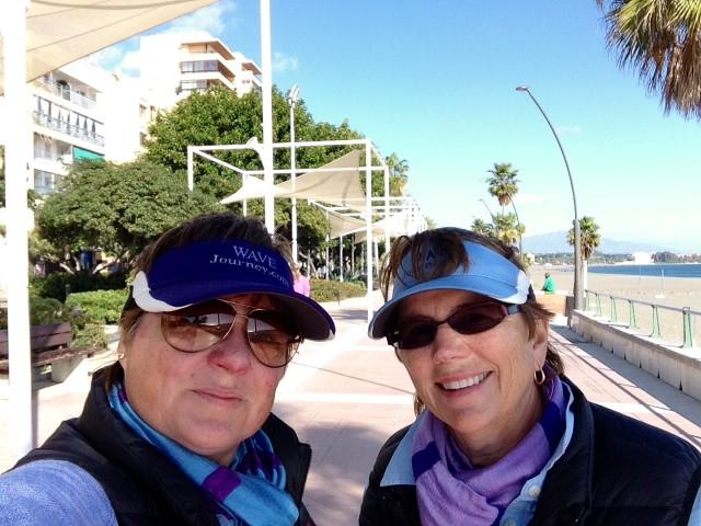 Viv and Jill in Malaga, Spain