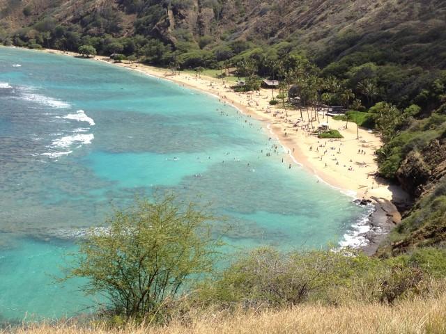 Hanauma Bay on Oahu, Hawaii