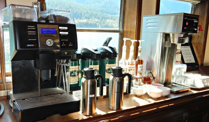 S.S. Legacy - Espresso machine, coffee and tea station