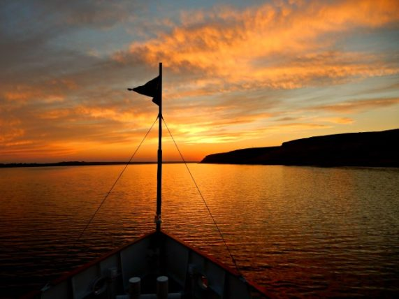 Sunset on the Columbia River from S.S. Legacy