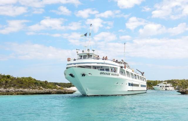 Grande Mariner Leaving Compass Cay The Bahamas