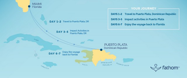 Fathom Travel - Dominican Republic Map and Itinerary