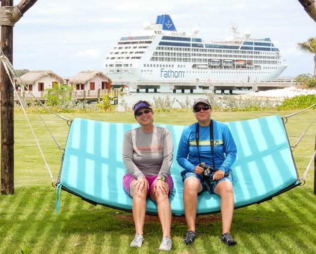 Jill and Viv in the Dominican Republic on Fathom Adonia