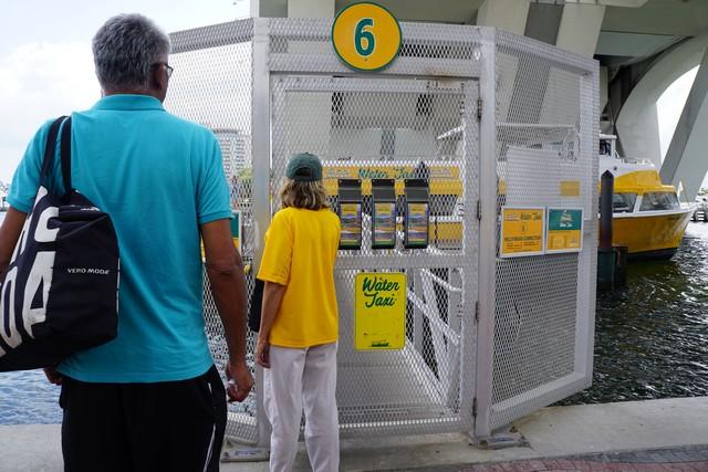 Water Taxi Stop at Hilton Marina