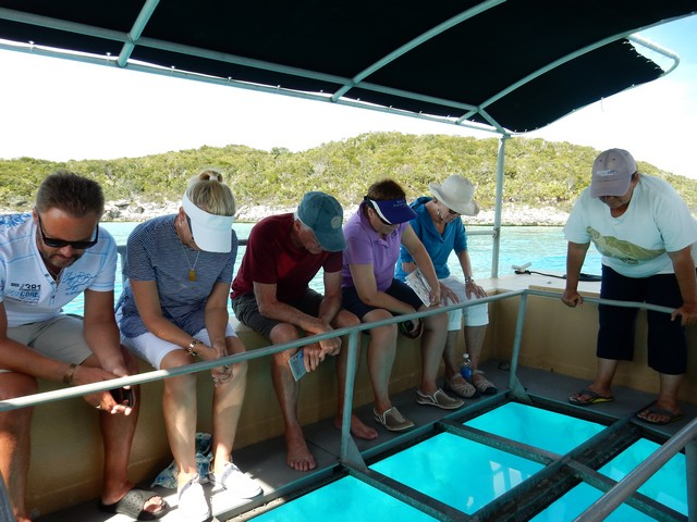 Glass bottom boat guided tour