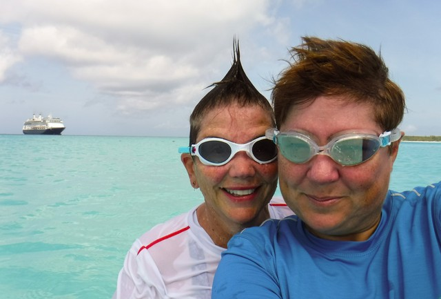 Jill and Viv in the Bahamas