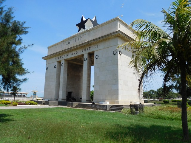 Monument to Freedom and Justice, celebrating Ghana's independence from Great Britain in 1957