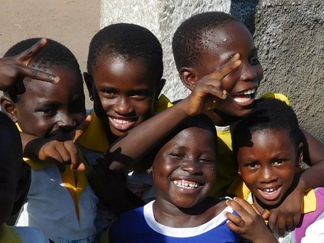 Happy little Ghanaians