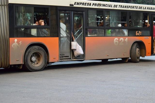 Public bus in Cuba