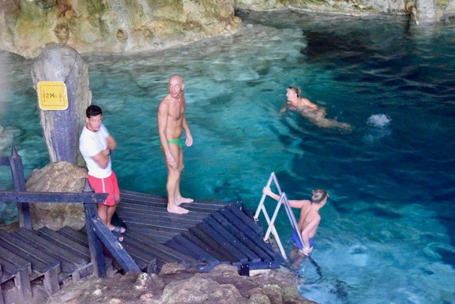 Cave diving in Cuba