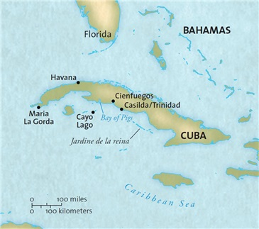 Blount Small Ship Adventures - Cuba 2017 Map