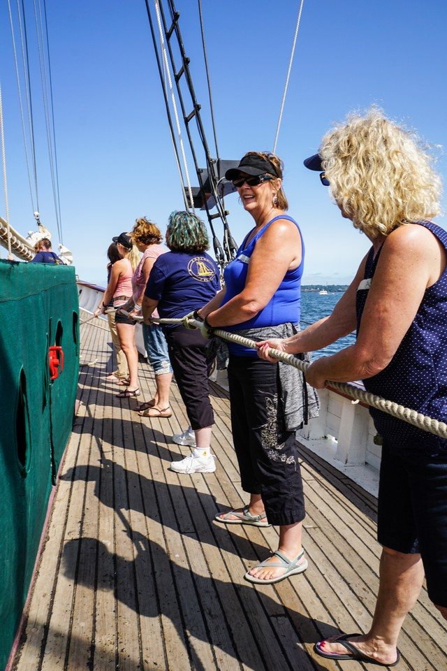 The Nauti-Gals cruise is fun for women of all ages and sailing abilities.