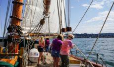 San Juan Sailing on Schooner Zodiac's Nauti-Gals Adventure