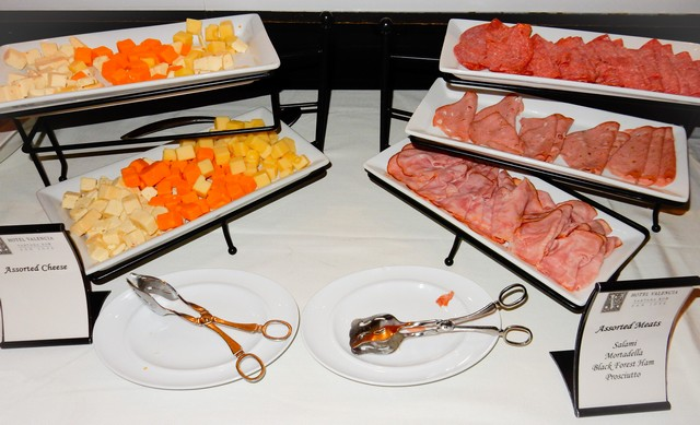 Hotel Valencia Breakfast Buffet - Assorted Cheeses and Deli Meats