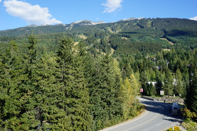 Views from our room at Pan Pacific Whistler Mountainside